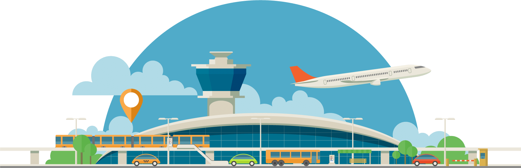 Illustrated airport.